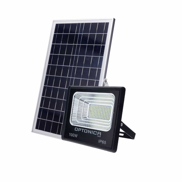 LED Fluter mit Solar-Panel